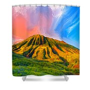 Ancient Hawaii Lava Flow Shower Curtain