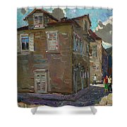 Ancient House In Perast Shower Curtain