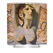 Ancient Middle East Map And Aphrodite Shower Curtain