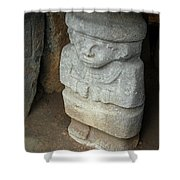 Ancient Pre-columbian Statue Shower Curtain