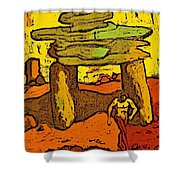 Ancient Sand Painting Shower Curtain