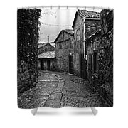 Ancient Street In Tui Bw Shower Curtain