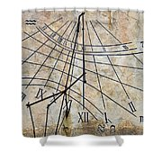 Ancient Sundial Shower Curtain