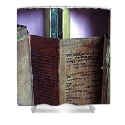 Ancient Torah Scrolls From Yemen  Shower Curtain