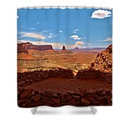 Ancient Viewpoint Shower Curtain
