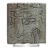 Ancient Wall Art Shower Curtain