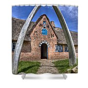 Ancient Whale's Jawbones Gate Shower Curtain
