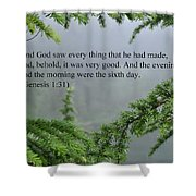 And God Saw Shower Curtain