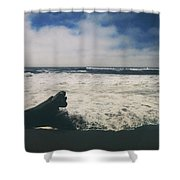 And It Goes On Shower Curtain by Laurie Search