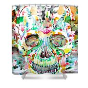 And Joining At Last Its Mighty Origin Shower Curtain