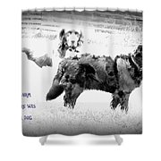 And On That Farm There Was A Dog Or Actuallu Two  Shower Curtain