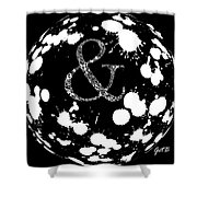 And Sign 2 Splashes Sphere  Shower Curtain