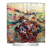 And The Earth Opens Its Mouth Shower Curtain