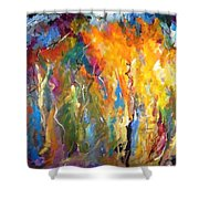 And The Light Flickers Shower Curtain