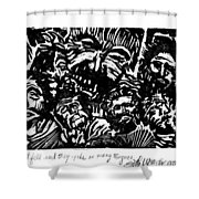 And The Spirit Fell Shower Curtain