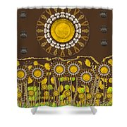 And The Sun Started To Shine Pop Art Shower Curtain