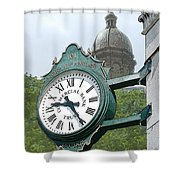 And The Time Is Shower Curtain