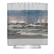And There Was Light Shower Curtain
