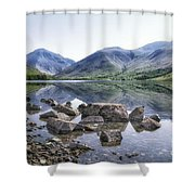 And There Was Peace... Shower Curtain