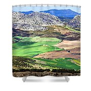 Andalucia Landscape In Spain Shower Curtain