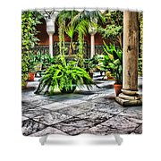 Andalusian Courtyard In Sevilla Spain Shower Curtain