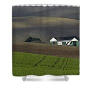 Andalusian Farmland  Shower Curtain
