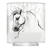 Andalusian Horse Drawing 1 Shower Curtain