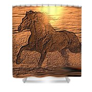 Andalusian Sunset Shower Curtain