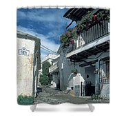 Andalusian White Village Shower Curtain