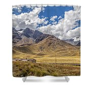 Andes Mountains - Peru Shower Curtain