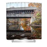 Andover Covered Bridge Shower Curtain