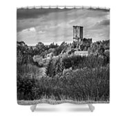 Andrade's Castle Galicia Spain Shower Curtain