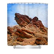 Andreas Canyon Shower Curtain