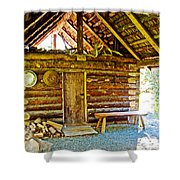 Andrew Berg's Homestead Cabin At Kenai National Wildlife Refuge In Soldotna-alaska Shower Curtain