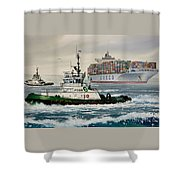 Andrew Foss Assisting Cosco Shower Curtain