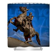 Andrew Jackson And New Orleans Saints Shower Curtain
