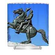 Andrew Jackson Raising His Hat Shower Curtain
