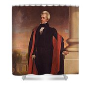 Andrew Jackson Standing Shower Curtain by War Is Hell Store