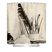 Andrew's Feather Shower Curtain