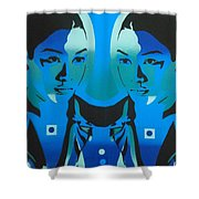 Android Twins Shower Curtain