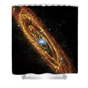 Andromeda Galaxy Shower Curtain by Adam Romanowicz