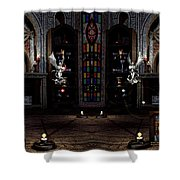 Angel And Devil Shower Curtain
