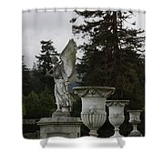 Angel And Garden Urns Shower Curtain