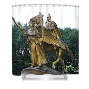 Angel And Tecumseh Sherman Shower Curtain