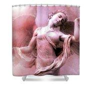 Angel Art Dreaming - Fantasy Ethereal Spiritual Angel Art Wings  Shower Curtain