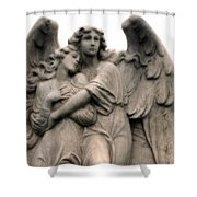 Angel Photography Guardian Angels Loving Embrace Shower Curtain