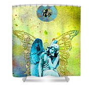 Angel Blessings 3 Shower Curtain