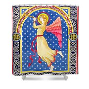 Angel Blowing Trumper Shower Curtain