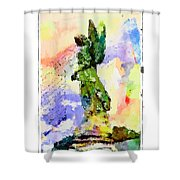 Angel Colors Shower Curtain