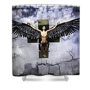 Angel Cube Shower Curtain